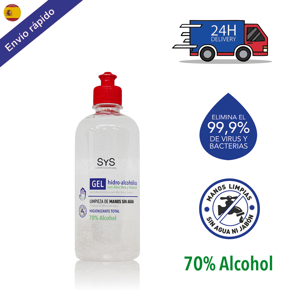 GEL HIDROALCOHOLICO Hands 500 ML/ 70% ALCOHOL Sanitizer Sanitary-ANTISEPTICO-cleaning Hands-on ALCOHOL-hygiene