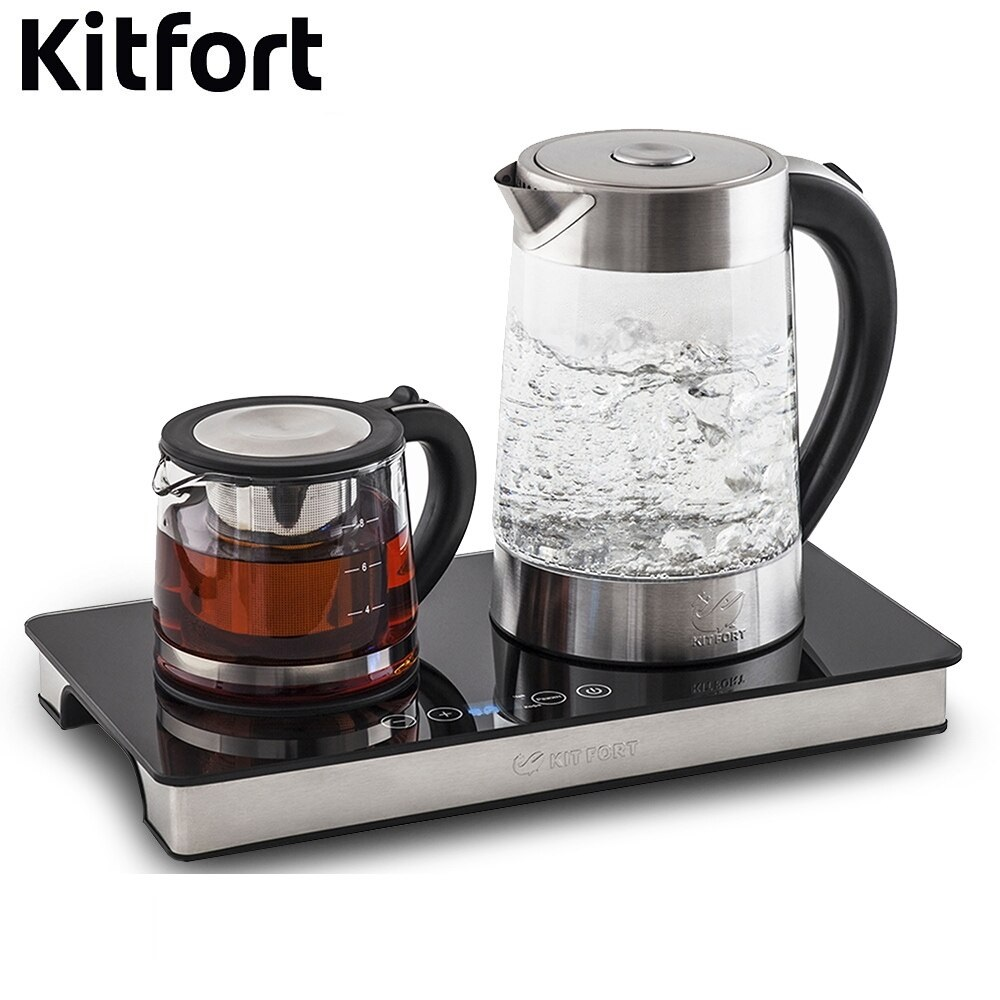 Set tea Kitfort KT-635 Kettle Electric Electric kettles home kitchen appliances kettle make tea Thermo цена