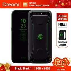 Versão global xiaomi black shark 64 gb rom 6 gb ram (rom oficial) blackshark, snapdragon 845, adreno 630
