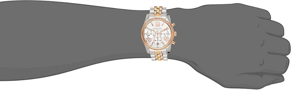 Closeout Deals▌Chronograph LOGO Michael Kors MK5735 Women's Authentic Brand-New Original Lexington Sport