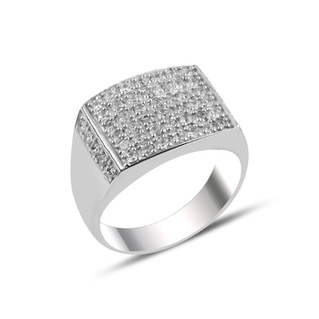 Silver 925 Sterling Zircon Stone Ring