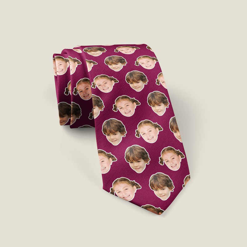 Face neck tie,Photo tie,Custom Face tie,Custom photo tie,face tie,funny tie,Personalized tie,gifts for new dads,novelty tie,best dad ever