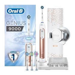 Электрическая зубная щетка Oral-B Genius 9000 из розового золота, работающая от штепсельной вилки Braun EU 220-240V