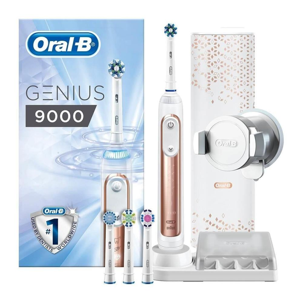 Oral-B Genius 9000 Rose Gold Electric Toothbrush Powered By Braun  EU PLUG 220-240V