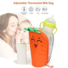 Universal Portable Baby Bottle Warmer Multifunction USB Heating Milk Warmer Bag for Winter