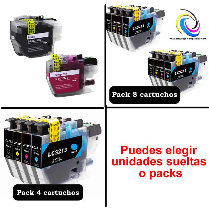 To Brother Pack Or Units LC-3211 LC-3213 LC3211 LC3213 To J497DW J572DW J772DW J772DNW J774DW J491DW J497DW J890DW J895DW