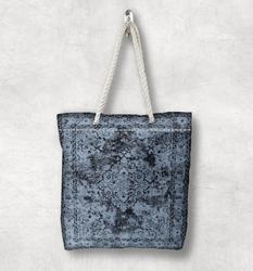 Else синий черный винтажная Анатолия аутентичная Новая модная белая парусиновая сумка с веревочной ручкой хлопковая парусиновая сумка на мо...