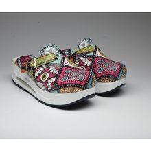 Zapatillas de aire ortopédicas con suela plana reforzada, pantuflas con suela plana y estampado de Sabo, para médico, Doctor, enfermera, Hospital