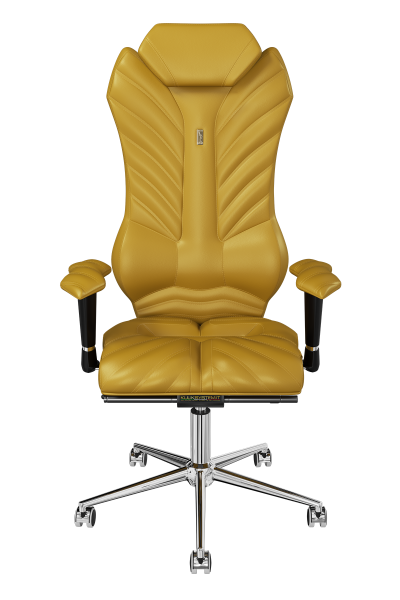 Office Chair KULIK SYSTEM MONARCH Golden Computer Chair Relief And Comfort For The Back 5 Zones Control Spine