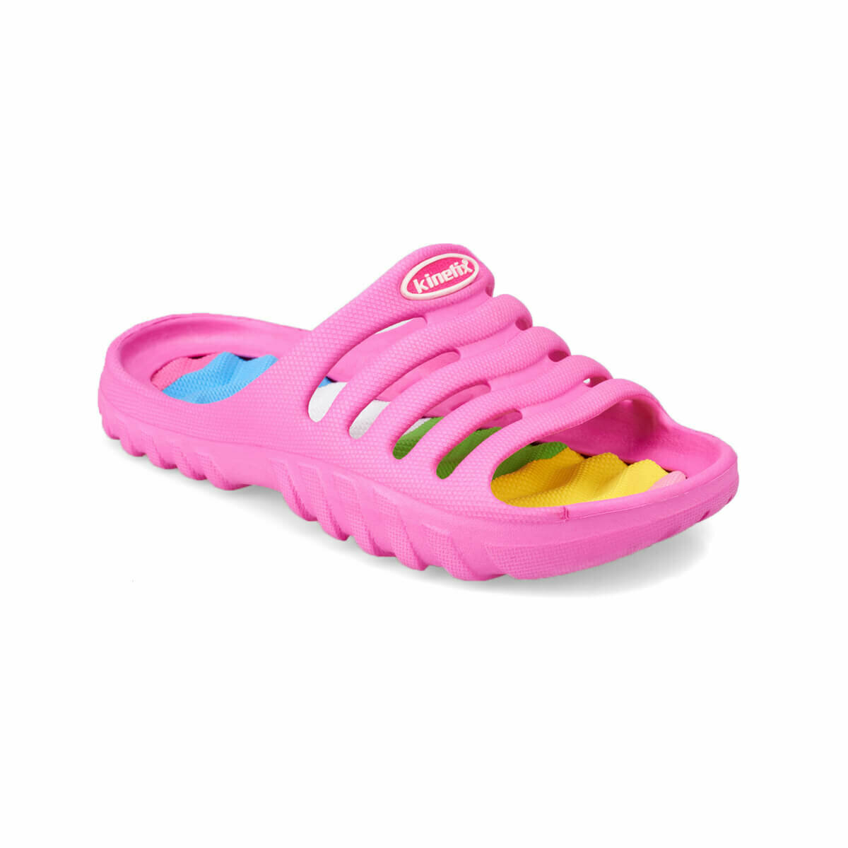 FLO TANUS Fuchsia Female Child Slippers KINETIX|Slippers| |  - title=