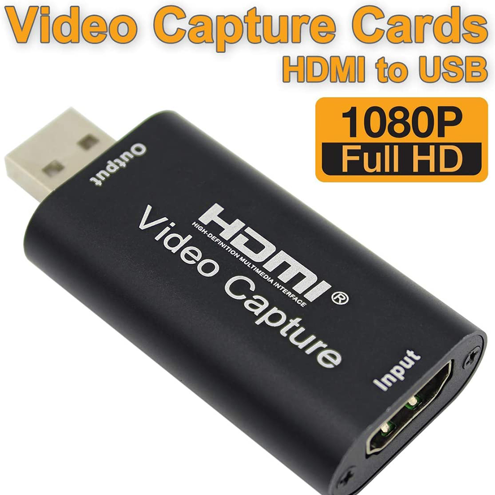Audio <font><b>Video</b></font> <font><b>Capture</b></font> <font><b>Cards</b></font> <font><b>HDMI</b></font> to USB 1080p USB2.0 Record via DSLR Camcorder Action Cam 4K 1080P for PS4 Game DVD image