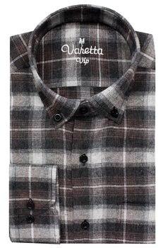 Plaid shirt men flannel mens shirts long sleeve for 100% cotton fabric winter regular fit man Varetta