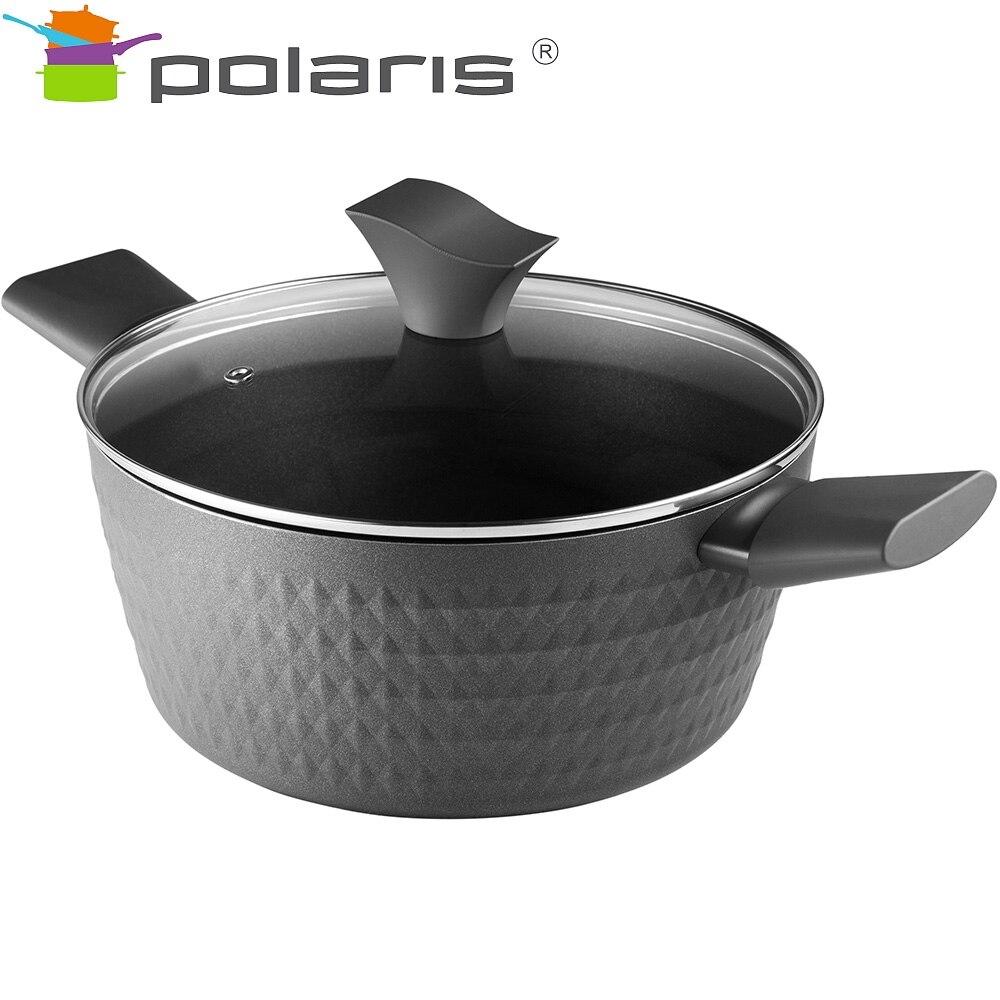 Saucepan with lid Polaris Kontur-24C Kitchen Pans pans Induction pots cookware Induction cookware Non-stick pan Pan with lid все цены