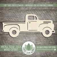 Деревянные винтажные вырезы пикапа, пустое Дерево формы ремесла s, деревянная винтажная форма грузовика, деревянный старинный грузовик