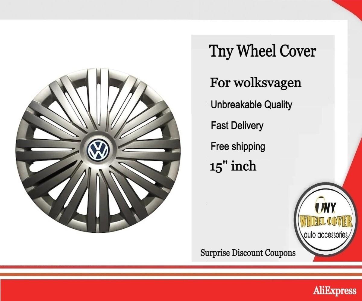 OEM 1 шт. Chrome 415 мм 41,5 см колесо крышка ступицы колеса крышка с логотипом эмблемой Замена для VW Защитные чехлы для сидений, сшитые специально для Volkswagen Polo 2017 6RD 601 147 H