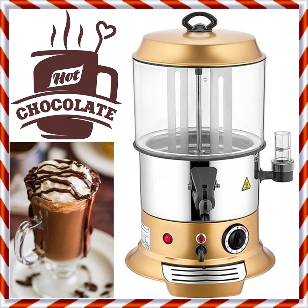 10 Liters Capacity Hot Chocolate Maker Machine Dispenser Continuous Rotary Inner Hopper Professional Commercial Or Home/Office