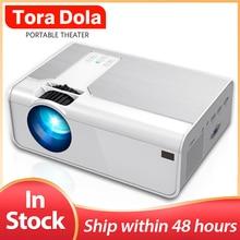 Tora Dola Mini Projector TD90/T90s, 800x480P/1280x720P LED Beamer, 3D Home Cinem