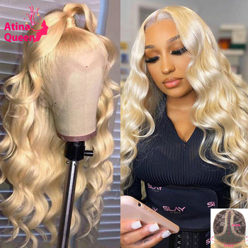 Loose Deep Wave Hd Transparent Lace Wigs Preplucked Frontal Wig Remy Black Women T Part 613 Blonde Lace Front Wig Human Hair image