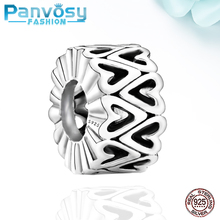 Fine New Style 925 Sterling Silver Openwork Charm Beads Fit Pandora 925 Original Charms Bracelet Gift  Jewelry Making DIY 2020 new arrival 925 silver charms beads with colorful cz stone fit authentic pandora bracelet diy fashion jewelry making women gift
