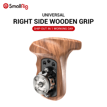 цена на SmallRig Right Side Wooden Handle with ARRI Rosette Suit for Sony a7II/a7RII/a7SII SmallRig Cage - 1941