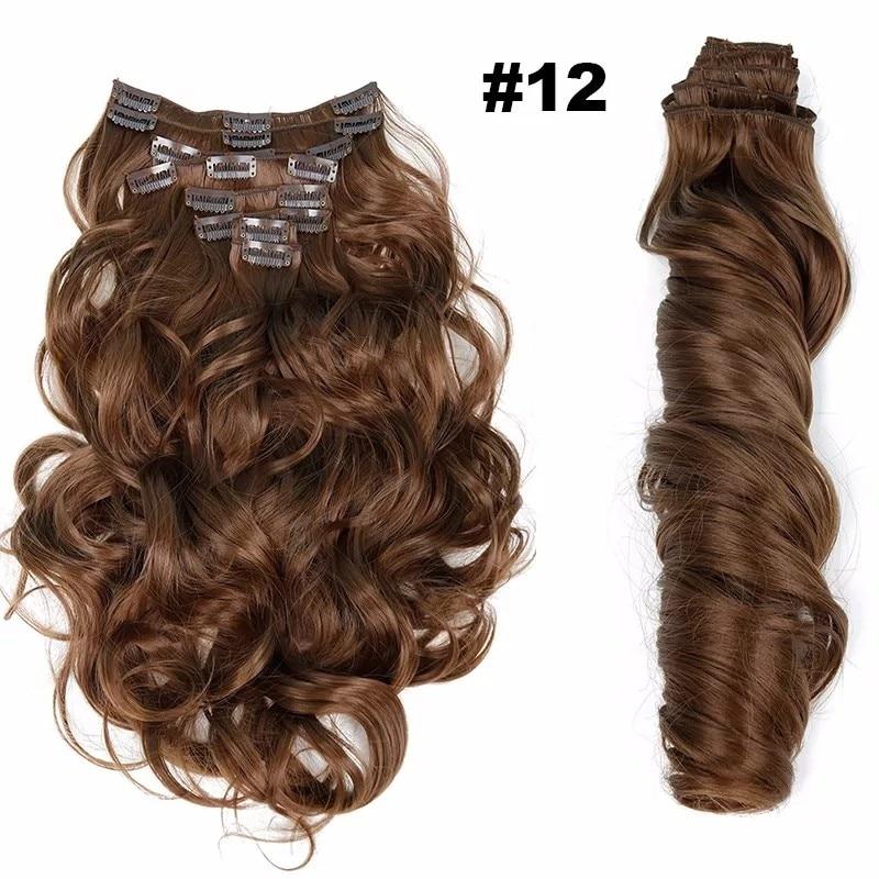 Extensões de cabelo sintéticas Cabelo Resistente Extensão