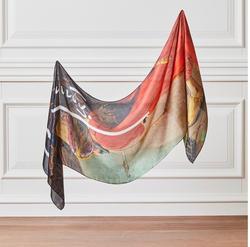 Bufanda de cuello de seda de trabajo Original del entrenador de tortuga Osman Hamdi Bey hecha en Turquía % 100 chal de seda de regalo-regalo presente