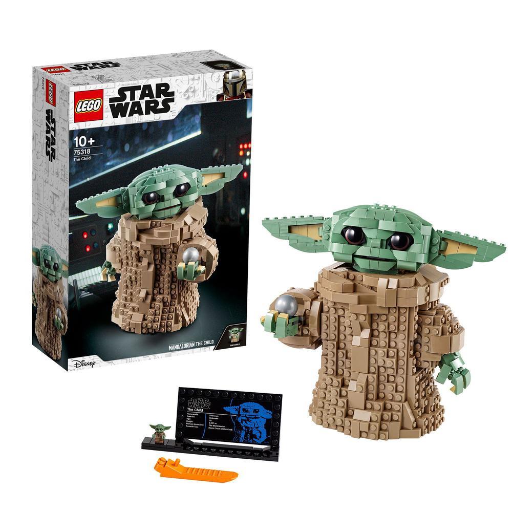 LEGO Star Wars The Mandalorian El Niño Baby Yoda Figura Articulable de Colección Regalo de Navidad para Exponer (75318) Bloques  - AliExpress