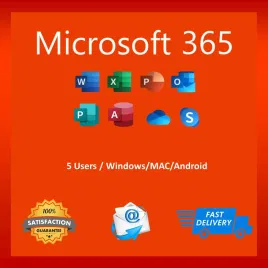 Microsoft Office 365 2020 Pro Plus Lifetime License Account 5 Devices Mac Win Mobile 5 TB