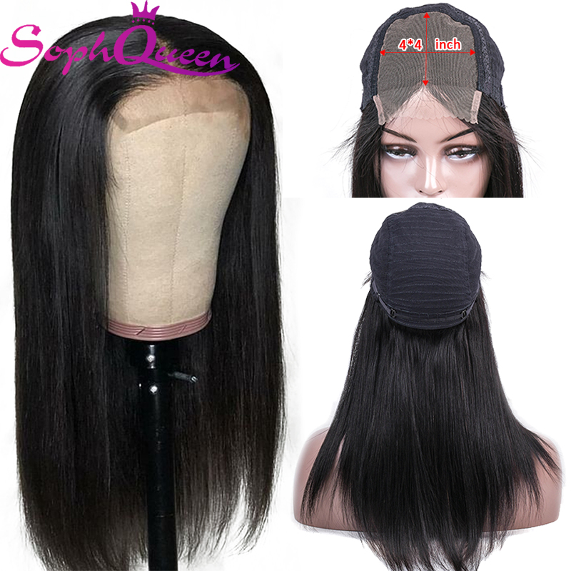 Soph Queen Straight 4*4 Lace Closure Human Hair Wigs Brazlian Remy Human Hair Wigs For Black Women Lace Closure Wigs