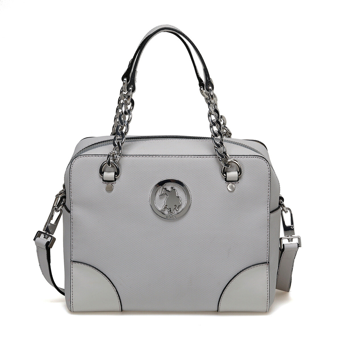 FLO US20296 Gray Women Shoulder Bag U.S. POLO ASSN.