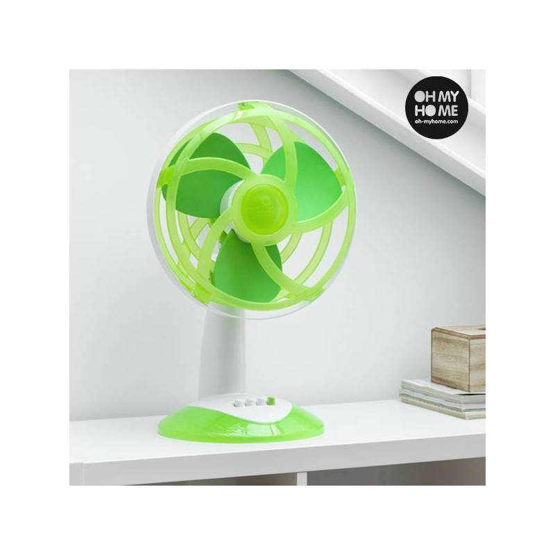 Fan Desktop Green With Blades EVA Rubber Ooh My Home 45W