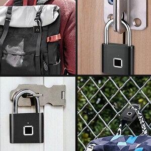 Image 5 - HONTUSEC Fingerabdruck schloss One Touch Open Gym Schloss für Locker, Sport, Schule & Mitarbeiter Locker, koffer Keine App, Keine Bluetooth