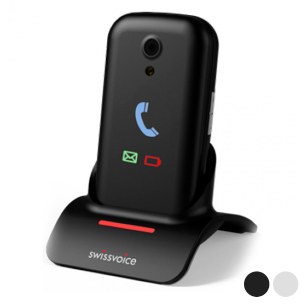 "Mobile telephone for older adults Swiss Voice Voice S28 2 8"" Bluetooth WiFi