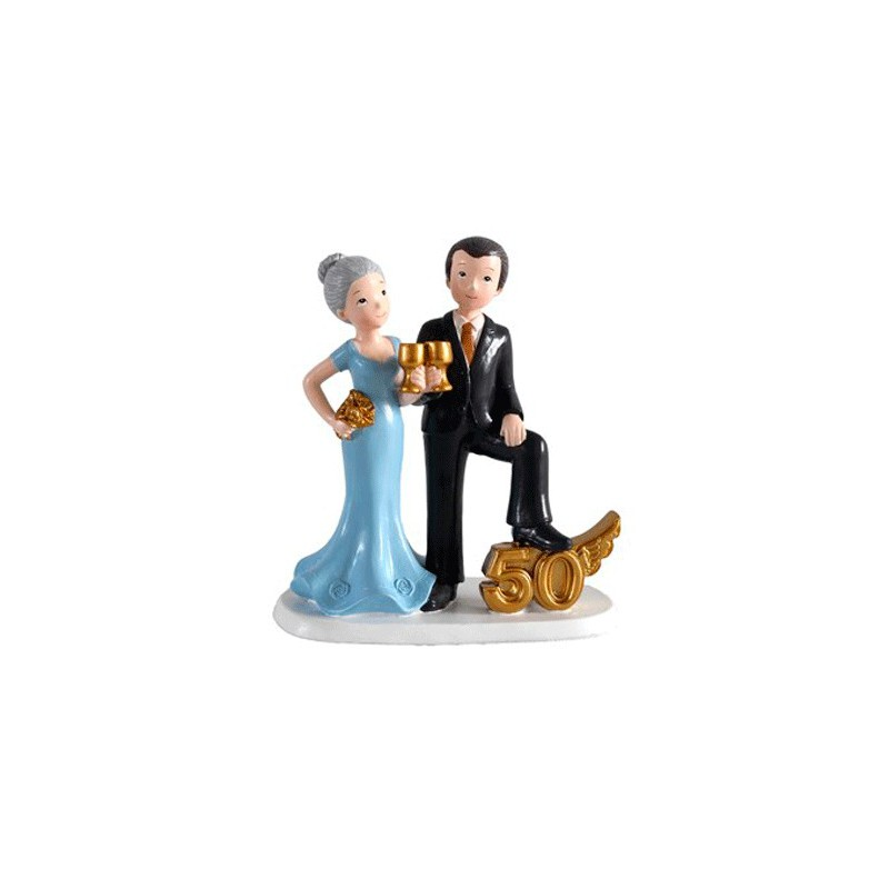 Figure cake bride and groom wedding 50 ° anniversary cups-details and gifts for weddings, christenings, Holy Communion, birthday and holiday.