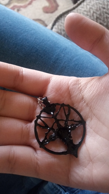 Chain Necklace with Goat Head Pentagram Pendant photo review