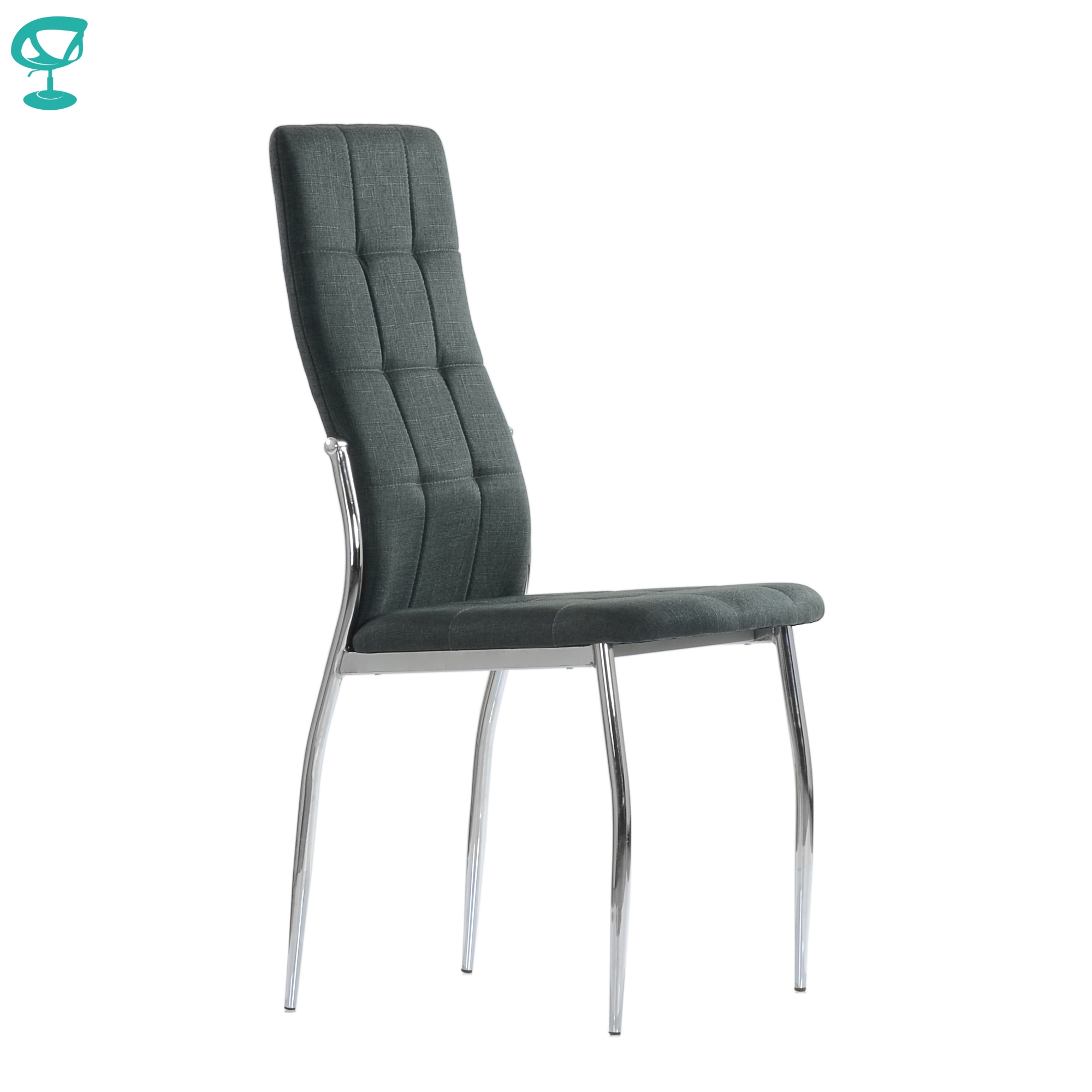 95729 Barneo S-68 Chair Table Soft сидением Dark Gray Fabric Chair Kitchen Chair For Coffee Shop Chair For Restaurant Feet Chrome