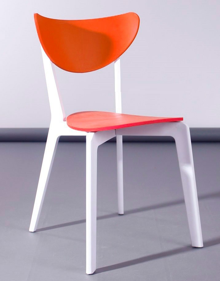 Chair LINA, Polypropylene White And Orange