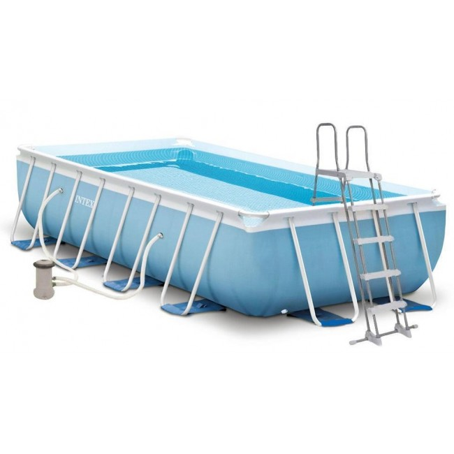 Scaffold Rectangular Pool 300*175*80 Cm, 220-240в, With Stairs And Filter Pump, From 6 Years, Item No 26784
