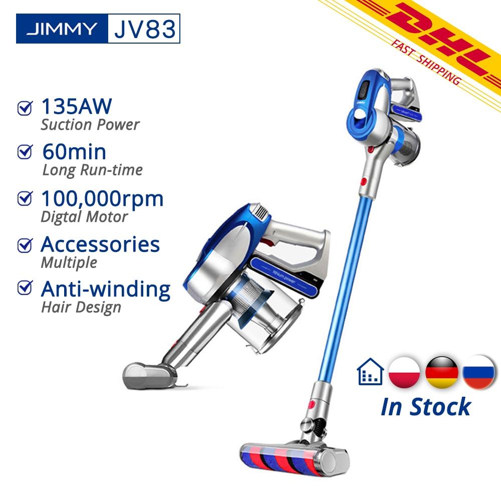 【RU Stock】 JIMMY JV83 Wireless Vacuum Cleaner Digital Motor Strong Power 20KPa Big Suction Aspirador Dust Collector VS JV53