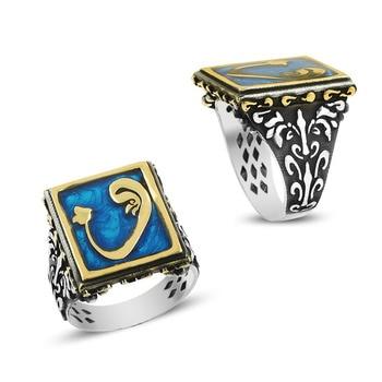 925 Silver Deep Ocean Designed Traditional Rings