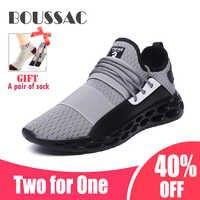 BOUSSAC 39-46 Mesh Laufschuhe Für Männer Atmungsaktiv Leichte Sport Schuhe Schwarz Rot Männlichen Gym Turnschuhe Betis zapatillas
