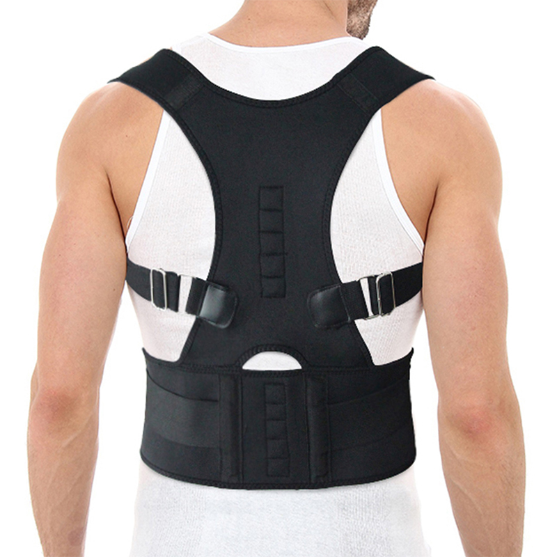 Comfortable Posture Corrector Belt with 10 High Energetic Magnets to Prevent Humpback and Pull Shoulder and Back to Correct Posture