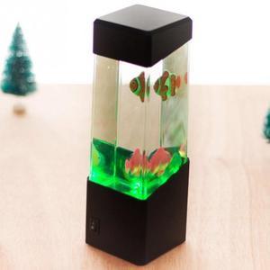 Ночной светильник в виде Медузы для аквариума, USB светодиодный светильник, сенсорная аутическая лава, светодиодный светильник, настольная л...