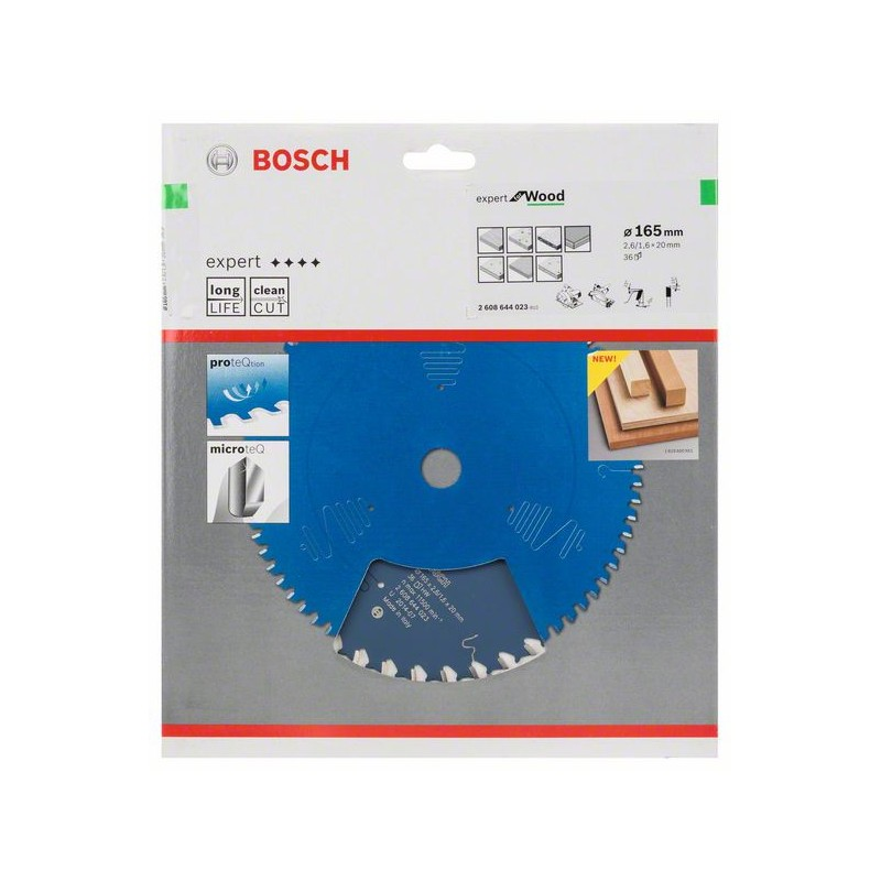 BOSCH-circular Saw Blade Expert For Wood 165x20x2,6mm 36