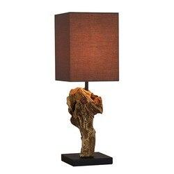Bureaulamp Acacia (15X15X50 Cm)