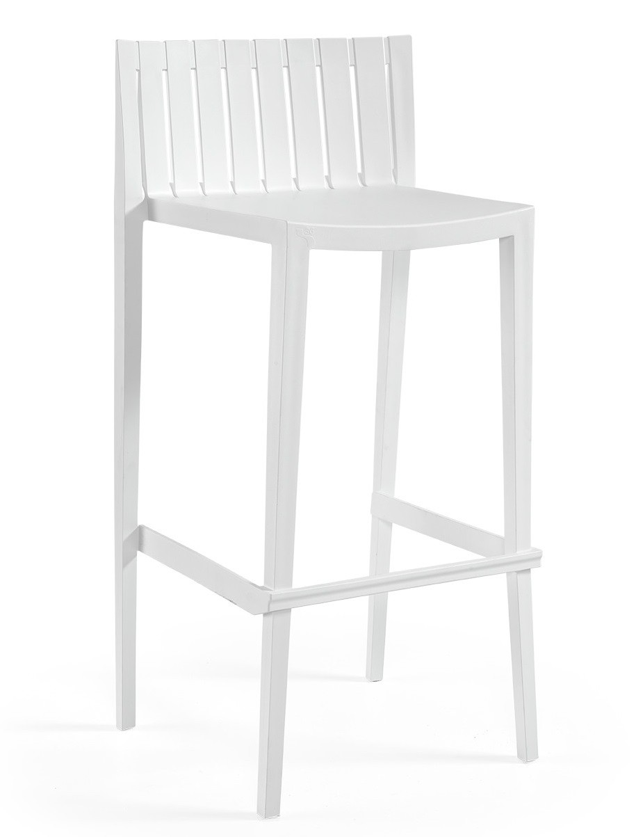 Stool CHOPIN-99, Stackable, White Polypropylene