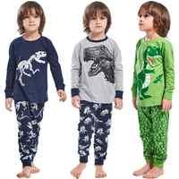 Pijama de dinosaurio para niños, Conjunto de pijama de niño, ropa de dormir de manga larga, de algodón Rex