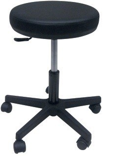 Stool WORK 1, Gas, Upholstered Similpiel Black Or White