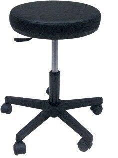 Stool WORK 1, Gas, Upholstered Similpiel Black Or White