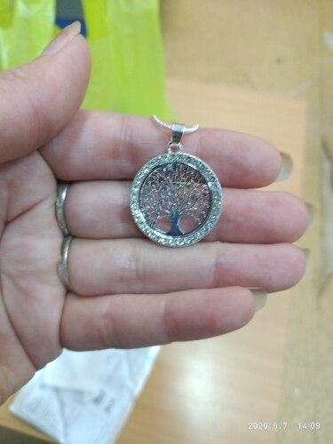 Collier arbre de vie cristal or, argent ou or rose